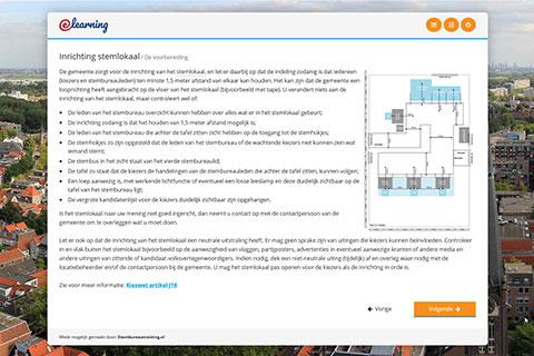Screenshot Stembureautraining.nl inrichting stemlokaal