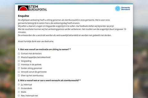 Screenshot enquete module