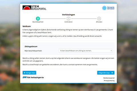 Screenshot Self-Service beschikbaarheid melden