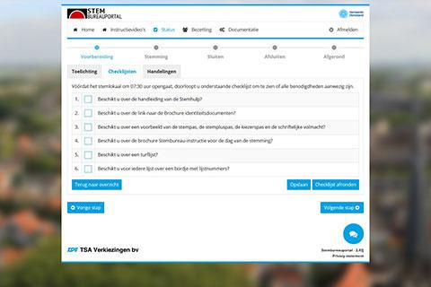 Screenshot stemhulp checklijsten
